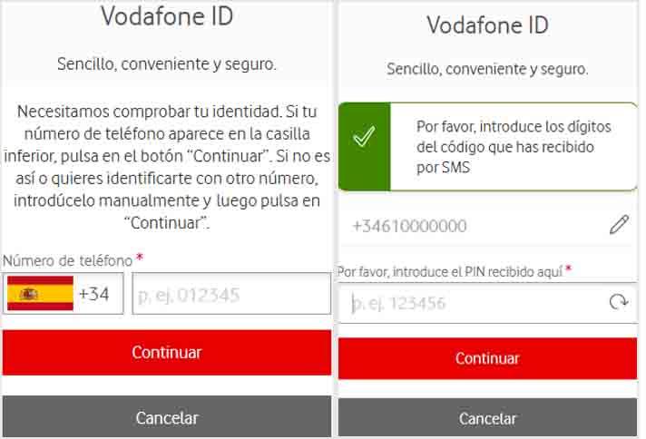 Imagen Web de Securet Net Comprobación SMS