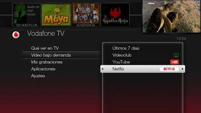 menu vodafone tv